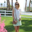 Model Rosie Huntington-Whiteley attends Coach Backstage at SOHO Desert House on April 10, 2015 in La Quinta, California
