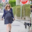Anna Paquin taking her dog for a walk in Venice, CA (August 24) - 454 x 548