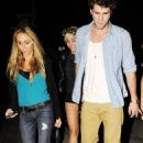 Miley Cyrus and Liam Hemsworth with her parents Billy Ray and Tish Cyrus in West Hollywood, CA (August 31)