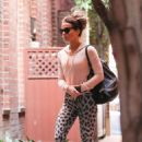 Kate Beckinsale in Animal Print Tights – Out in Beverly Hills