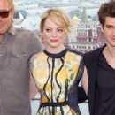 Emma Stone: at a photo call held on the roof of The Ritz-Carlton