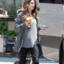 Shenae Grimes shooting 90210 at Fleming's Steakhouse in El Segundo, CA (August 13)