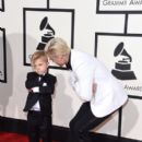 Justin Bieber and his Lil Brother Jaxon attend The 58th GRAMMY Awards at Staples Center on February 15, 2016 in Los Angeles, California