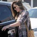 Minka Kelly- April 27, 2016- Minka Kelly Leaving Meche Salon