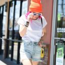 Bella Thorne in Denim Shorts out in Los Angeles - 454 x 816
