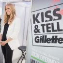 Kristin Cavallari: joined Gillette's Kiss & Tell Live National Experiment, asking women whether a kiss with stubble or smooth shaven skin is better at Pioneer Court in Chicago