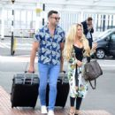 Bianca Gascoigne and boyfriend CJ Meeks Arrives at the airport in London - 454 x 530