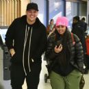 Blac Chyna and Rob Kardashian at JFK Airport in New York City - January 16, 2017
