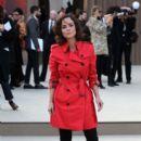 Celebrities at Burberry Prorsum 2013 Fashion Show at London Fashion Week