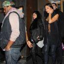 Nicole Scherzinger: left Nobu Berkley restaurant in London