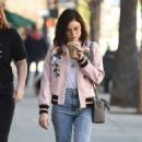 Lucy Hale in jeans shopping at Urban Outfitters in Los Angeles January 28, 2017 - 454 x 772