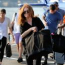 Julianne Moore – Arrives at the 30th Street Heliport from the Hampton in NYC - 454 x 454