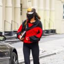 Bella Hadid – Seen arriving at a studio in Brooklyn