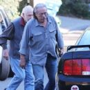 Edward James Olmos shops for properties in the Hollywood Hills, California with family on January 29, 2014