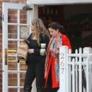 Elizabeth Berkley with big baby bump at Urth Cafe
