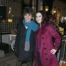 Ronnie Wood and Sally Wood attend Stella McCartney store Christmas lights switch on at Stella McCartney on November 25, 2015 in London, England.