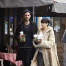 Amelia Warner and Jamie Dornan out in London (Feb. 25, 2015)