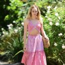 Suki Waterhouse in Pink outfit out in West Hollywood - 454 x 627