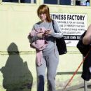 Alice Eve Debuts a new haircut – Leaves a gym in LA - 454 x 557