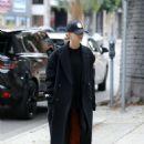 Hailey Bieber – Hits up a hair salon in LA