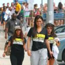 Deena Nicole Cortese are spotted walking home after a days work at the Shore Store