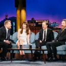 Bryan Cranston, Giovanni Ribisi and Jessica Biel  at 'The Late Late Show with James Corden' (January 2017) - 454 x 303