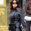 Salma Hayek Shopping in Paris