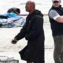 Dwayne Johnson- March 29, 2016- on Baywatch Set