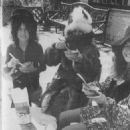 1970 - T-Rex singer Marc Bolan, his wife-to-be June Ellen Child and Alice Ormsby-Gore having fun at Eric Clapton's house in Surrey. Found via Steve Moon's (moonmarc1961) photobucket