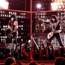 Paul Stanley and Tommy Thayer of KISS perform onstage at Fashion Rocks 2014 presented by Three Lions Entertainment at the Barclays Center of Brooklyn on September 9, 2014 in New York City.