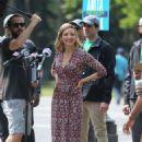 Lola Glaudini – Filming 'Ray Donovan' in New York - 454 x 681