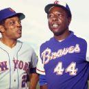 Willie with Hank Aaron