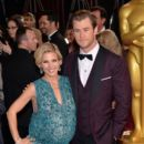 Chris Hemsworth and Elsa Pataky At The 86th Annual Academy Awards (2014) - Arrivals