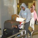 Eleni Menegaki and Mateo Pantzopoulos- airport look