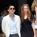 Lily Cole And Enrique Murciano - Christian Dior Paris Fashion Show F/W On July 5, 2010 - 428 x 600