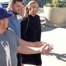 Jennifer Lopez in Black Dress at Dodger Stadium in Los Angeles