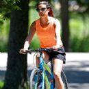 Lea Michele – Bike Riding in The Hamptons - 454 x 651