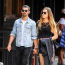 Joe Jonas & Blanda Eggenschwiler running a few errands after having lunch at a restaurant in Soho, New York. (July 24)