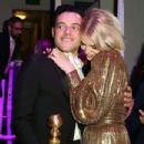 Rami Malek and Lucy Boynton At The 76th Annual Golden Globes (2019) - Pos Party