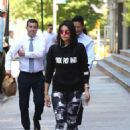Nina Dobrev – Leaves an intense workout in New York City