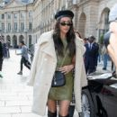 Shay Mitchell in Green Mini Dress – Out and about in Paris