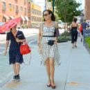 Famke Janssen in Summer Dress – Out in New York