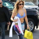 Jennifer Lopez – Hits the gym in Miami
