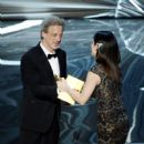 Film editor William Goldenberg and Sandra Bullock At The 85th Annual Academy Awards - Show (2013)