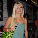 Brooke Hogan - The Blackberry Brick Breaker Contest At 102 Fulton Street On July 30, 2009 In New York City