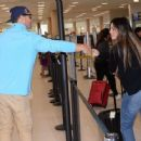 Gaby Espino at LMM airport in San Juan