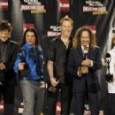 Metallica pose in the press room during the 24th Annual Rock and Roll Hall of Fame Induction Ceremony at Public Hall on April 4, 2009 in Cleveland, Ohio - 454 x 306