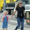 Rebecca Gayheart and her daughter Billie Dane spotted out and about in West Hollywood, California on September 8, 2014