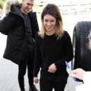 Shenae Grimes and Josh Beech at LAX