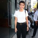 Frankie Bridge – Arriving at BUILD AOL TV Show in London - 454 x 681